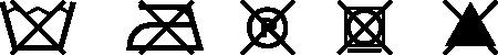 Umelá koža Spark - symboly údržby
